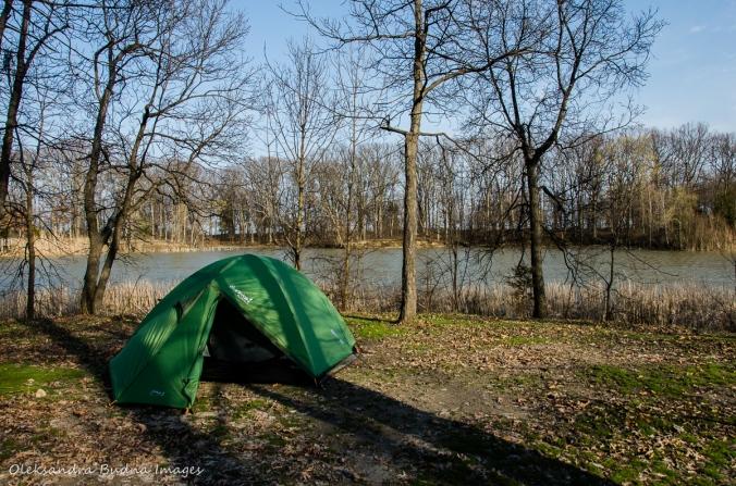 green tent at Wheatley Provincial Park