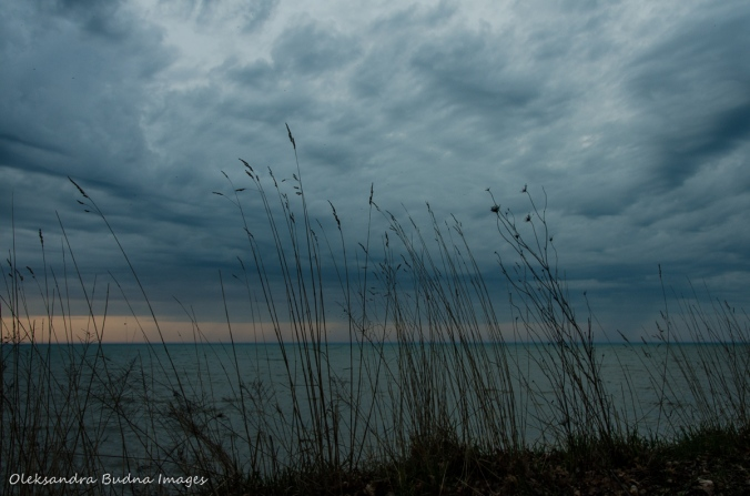 clouds over Lake Erie at Wheatley Provincial Park