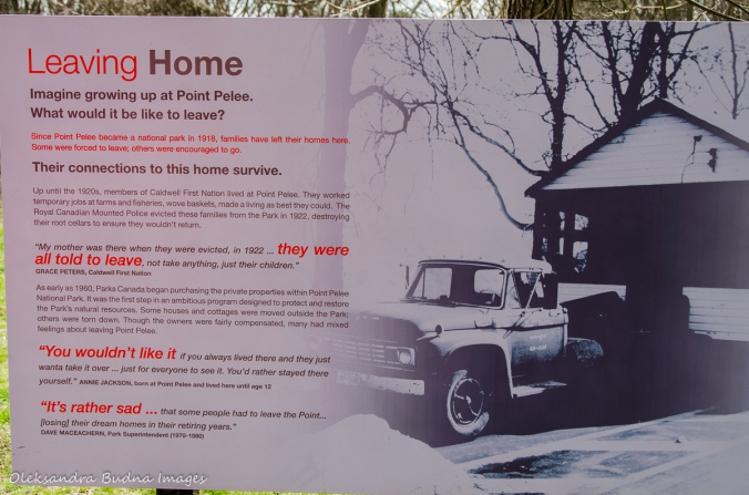 information panel at Point Pelee