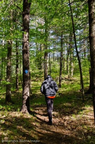 hiking at Frontenac