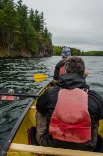 paddling on Big Salmon Lake in Frontenac