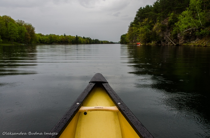 paddling on Big Salmon Lake in Frontenac
