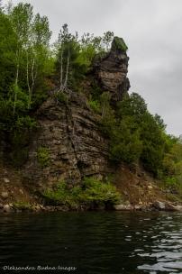 cliff on Big Salmon Lake in Frontenac