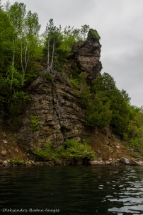 cliff on Big Salmon Lake in Frontenac