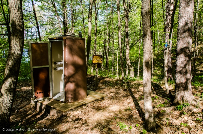 outhouse at campsites 4 in Frontenac