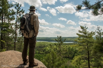 enjoying the views from Centennial Ridges Trail in Algonquin