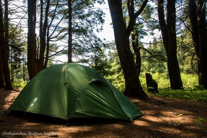 Eureka El Capitan 3 tent on site 471 in Algonquin