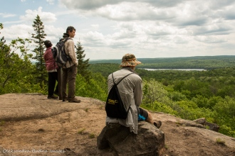 enjoying views from Centennial Ridges trail in Algonquin