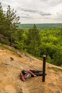 enjoying views from Centennial Ridges trail in Algonquin
