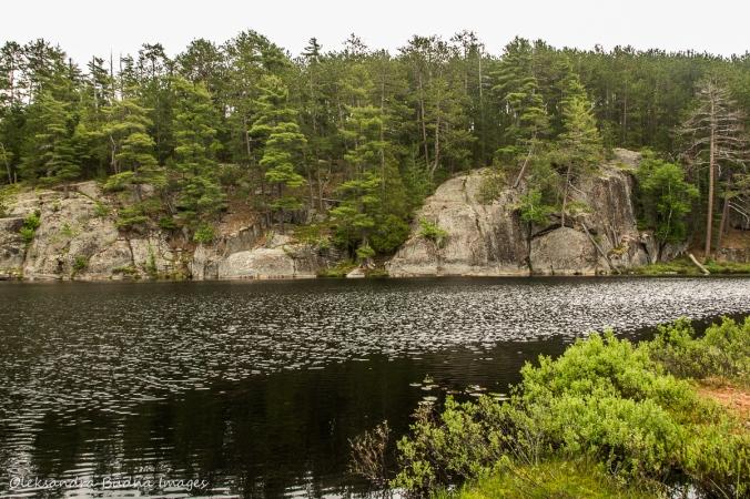 Cloud lake along Centennial Ridge Trail in Algonquin