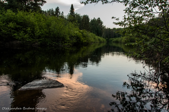 Madawaska River near Pog Lake Campground in Algonquin