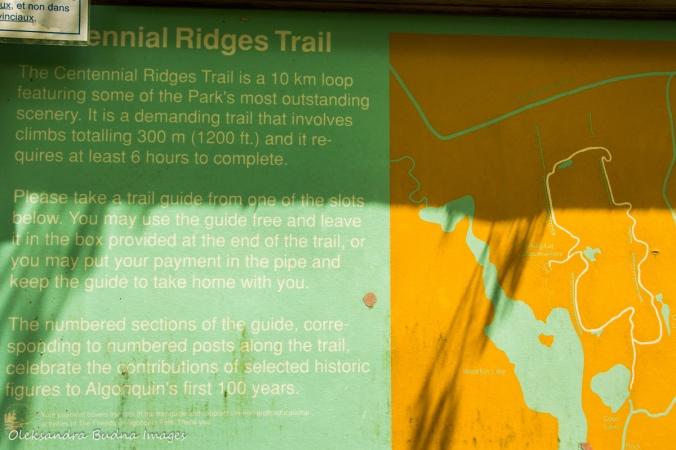 map of centennial ridges tral