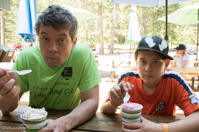 ice-cream at Lake of Two River store in Algonquin