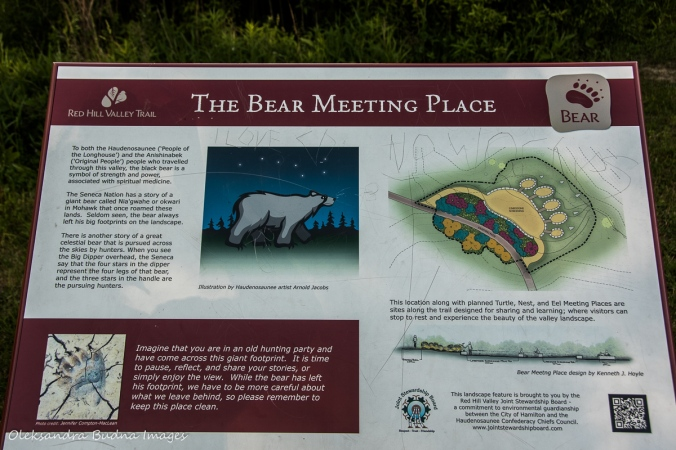 information panel along the Red hill Valley Trail