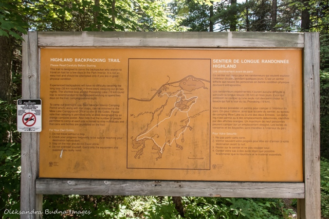 Algonquin Highlands trail map