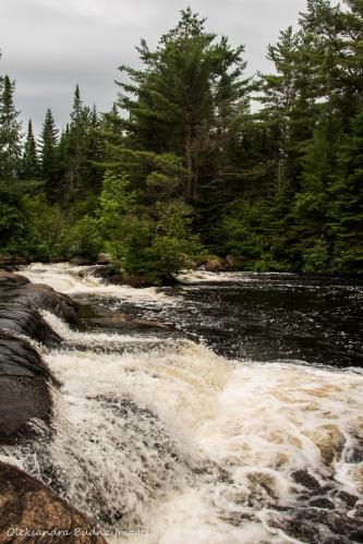 Madawaska River falls in Algonquin