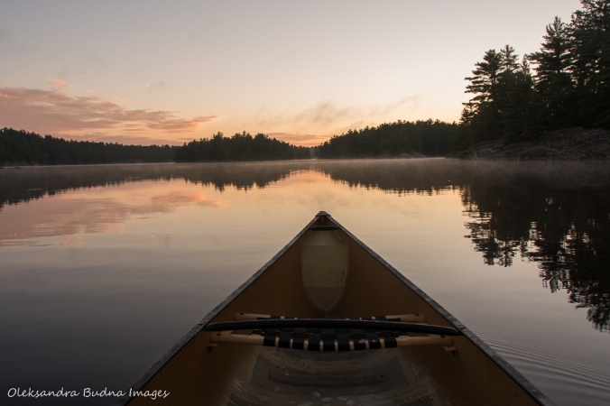 early morning paddle at Point Grondine