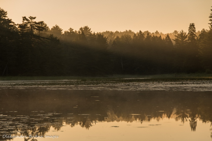sunrise on Lyle Lake at Point Grondine