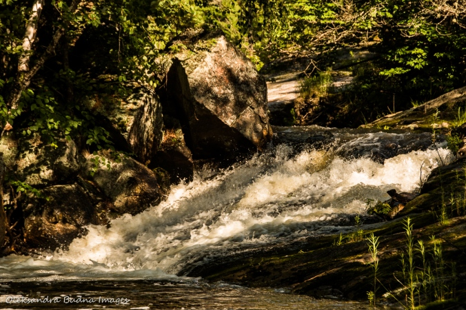waterfalls at Point Grondine Park