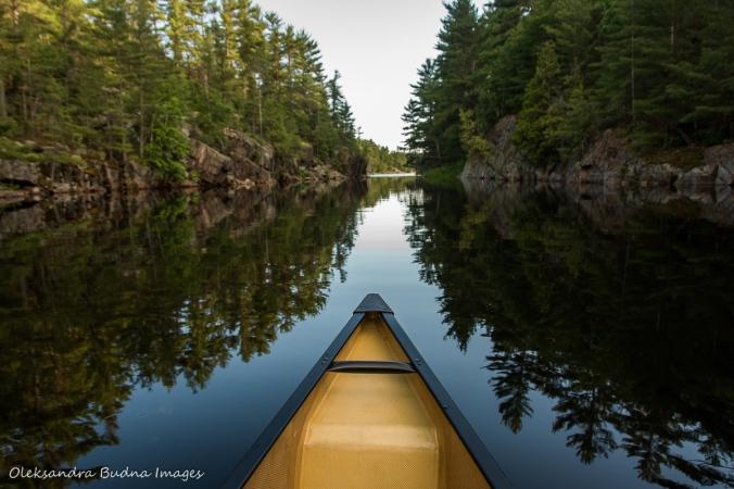canoeing at Point Grondine Park