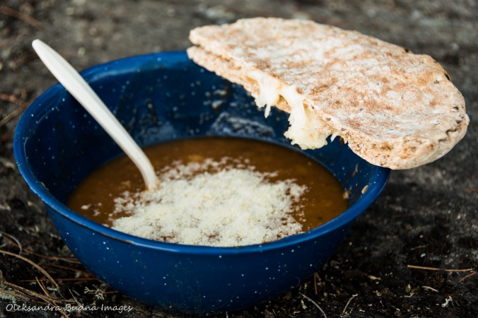 soup and grilled cheese pita pocket