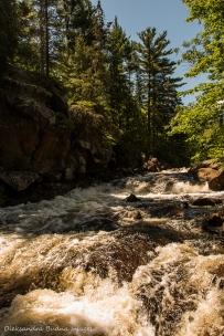 Wemtagoosh falls at Point Grondine Park