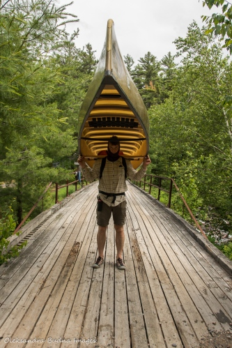 portaging at Point Grondine Park