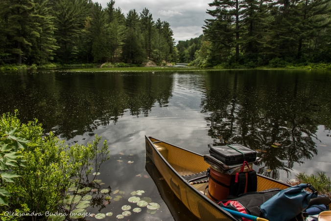 portage at Point Grondine Park