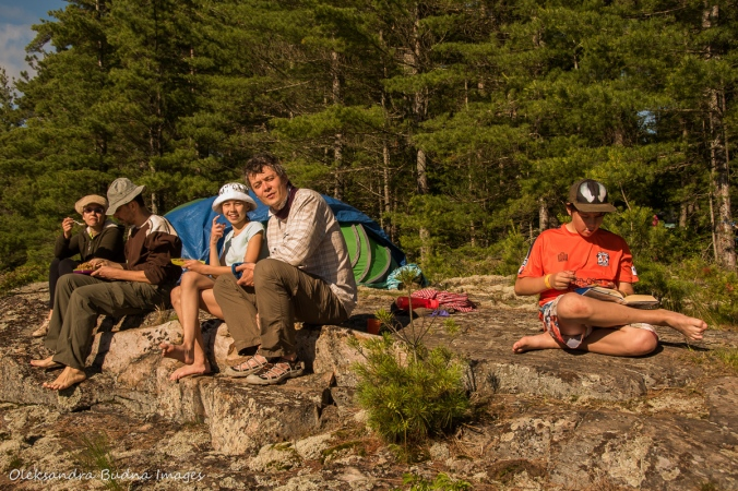eating on campsite c3 at point grondine