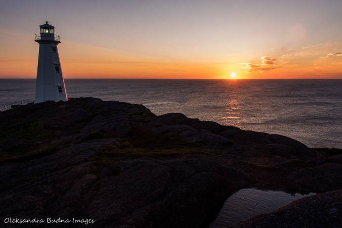 sunrise at Cape Spear in Newfoundland