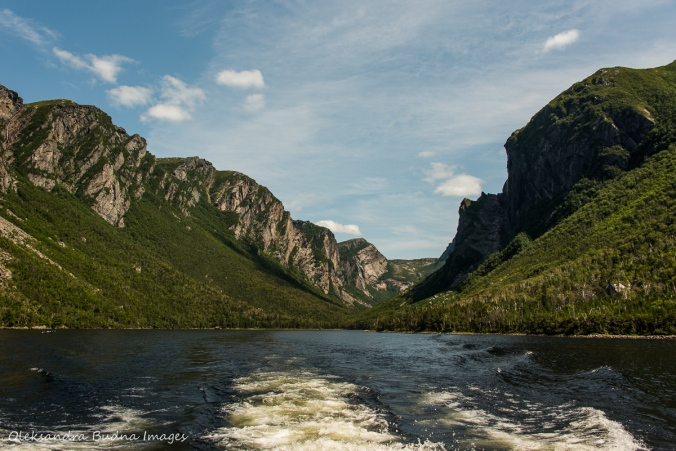Western Brook Pond in Gros Morne Park in Newfoundland