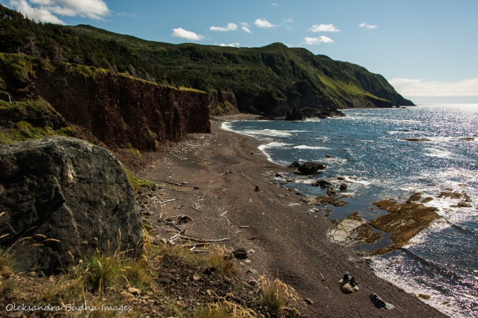Old Man Cove on Green Gardens Trail in gros Morne park in Newfoundland