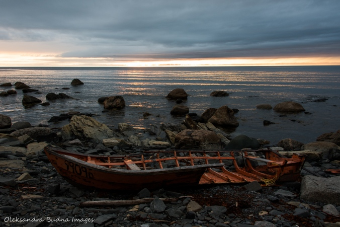 sunset at Lobster Cove in Gros Morne Newfoundland