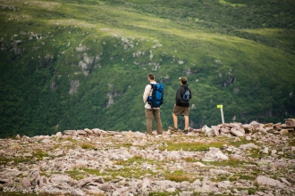 hiking Gros Morne Mountain trail in Newfoundland