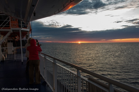 sunrise from Highlander Ferry near Newfoundland