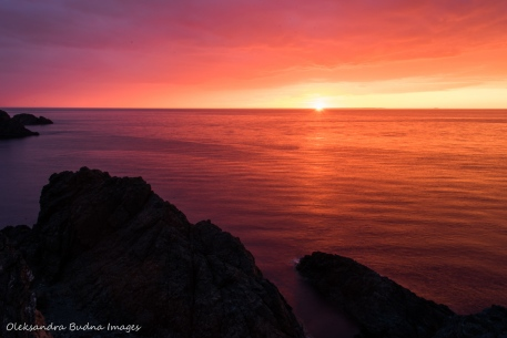 sunset from Long Point Lighthouse in Twillingate in Newfoundland