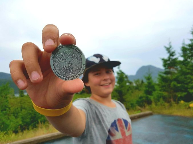 geocoin at Gros Morne National Park newfoundland