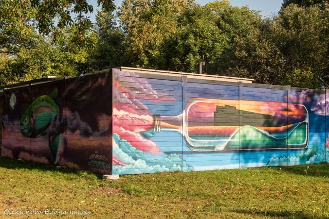 mural in Marie Curtis Park