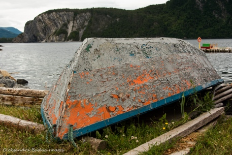 old boat at Norris Point in Newfoundland