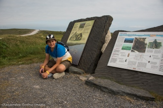 geocaching at Port au Choix National Historic Site in Newfoundland