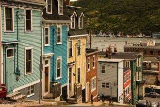 jellybean rowhouses in St. John`s, Newfoundland