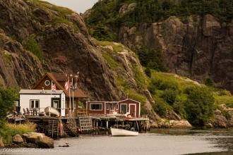 Quidi Vidi Village in St. John`s, Newfoundland