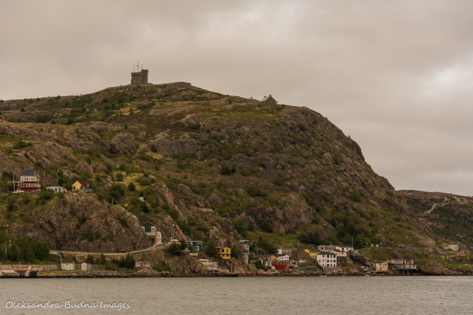 view of Signal Hill in St. John`s, Newfoundland