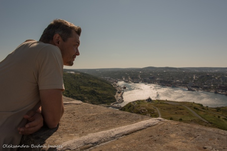 enjoying the view from Signal Hill St. John`s, Newfoundland