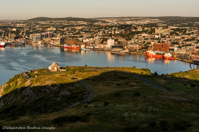 view from Signal Hill St. John`s, Newfoundland
