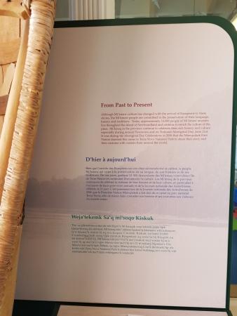 Information panels at Terra Nova Visitor Centre