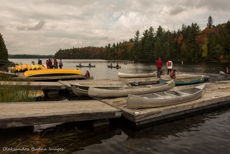boat launch on Canoe Lake in Algonquin