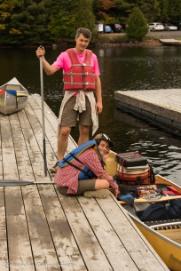 all set for a trip at boat launch on Canoe Lake in Algonquin