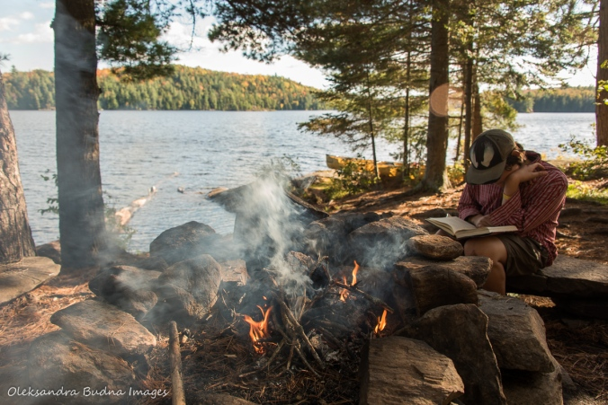 campsite on Tom Thompson Lake in Algonquin