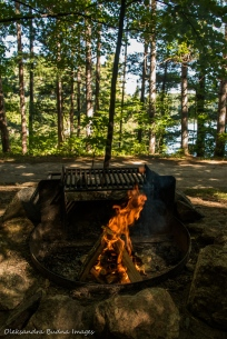view from Campsite D11 at Lake Philippe Campground in Gatineau